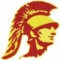 Southern California Trojan Logo machine embroidery design