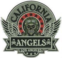 California Angels badge machine embroidery design