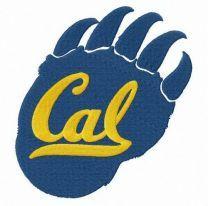 California Golden Bears alternative logo embroidery design