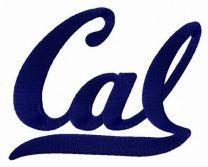 California Golden Bears wordmark logo embroidery design
