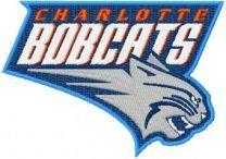 Charlotte Bobcats Logo machine embroidery design