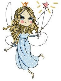Charming fairy machine embroidery design 3
