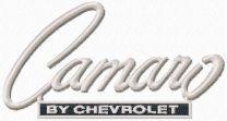 Camaro by Chevrolet logo machine embroidery design