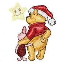 Christmas Winnie the Pooh and Piglet embroidery design
