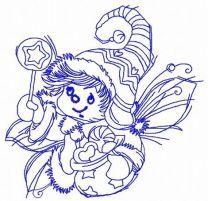 Christmas elf machine embroidery design 3