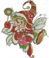 Christmas elf machine embroidery design