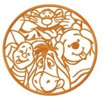 Christopher Robin's friends embroidery design