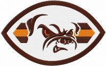 Cleveland browns oval logo embroidery design