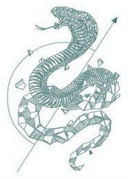 Cobra reborn embroidery design