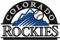 Colorado Rockies logo machine embroidery design