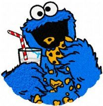 Cookie Monster embroidery design