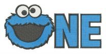 Cookie Monster NE embroidery design