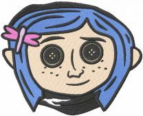 Coraline Button Eyes embroidery design