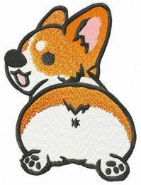 Corgi embroidery design