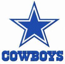 Cowboys logo embroidery design