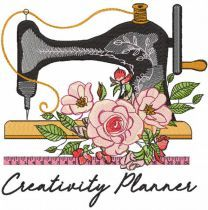 Creativity Planner embroidery design