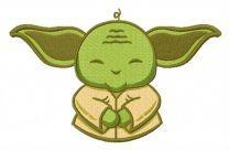 Cute Yoda embroidery design 3