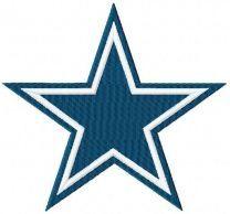 Dallas Cowboys logo machine embroidery design