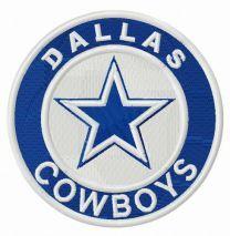 Dallas Cowboys round logo embroidery design