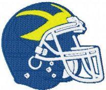 Delaware Blue Hens Helmet machine embroidery design