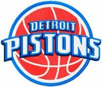 Detroit Pistons Primary Logo machine embroidery design