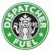 Dispatcher fuel embroidery design