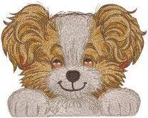 Dog best friend embroidery design