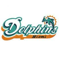 Miami Dolphins big logo machine embroidery design