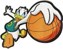 Donald Duck basketball fan machine embroidery design