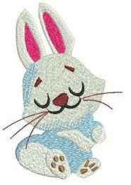 Dreamy bunny embroidery design