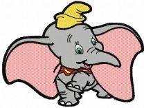 Dumbo dancing embroidery design
