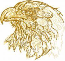 Eagle sketch embroidery design