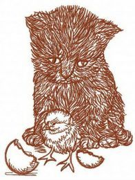 Easter surprise machine embroidery design 2