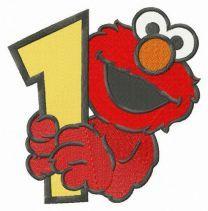 Elmo number 1 embroidery design