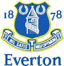 Everton Football Club machine embroidery design