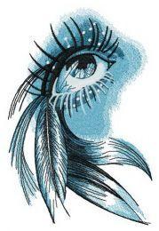 Eye of Indian girl