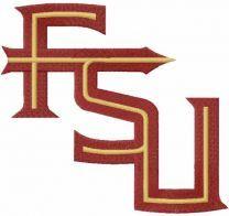 Florida state seminoles alternate logo embroidery design