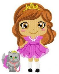 Fluffy royal pet machine embroidery design
