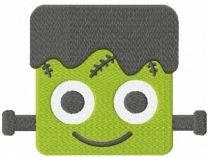 Frankenstein halloween monster face embroidery design