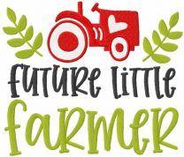 Future little farmer embroidery design