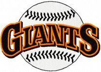 Giants classic logo machine embroidery design