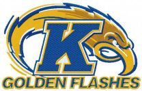 Golden Flashes logo machine embroidery design