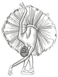Graceful ballet dance sketch