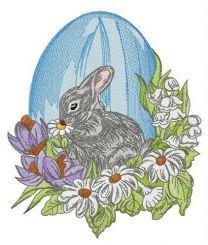 Gray Easter bunny