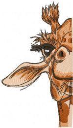 Half giraffe embroidery design embroidery design