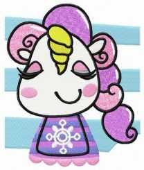 Happy unicorn teen