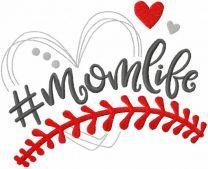 Hashtag momlife embroidery design