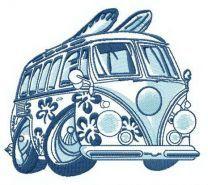 Hawaiian van embroidery design