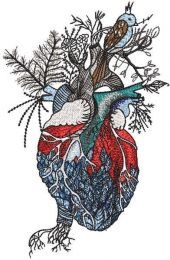 Heart of nature embroidery design