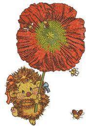 Hedgehog with poppy